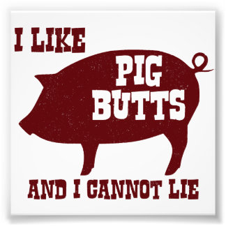 I like Pig Butts and I Cannot Lie BBQ Bacon Photo Art