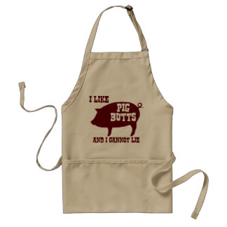 I like Pig Butts and I Cannot Lie BBQ Bacon Standard Apron