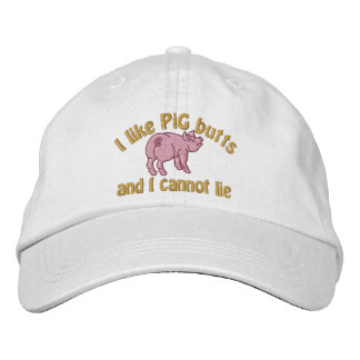 I Like Pig Butts Bacon and This Cute Little Pig Baseball Cap
