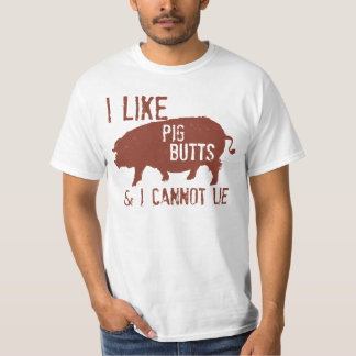 I LIKE PIG BUTTS DISTRESSED T SHIRT