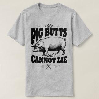 I Like Pig Butts Funny BBQ Slogan Humour T-Shirt