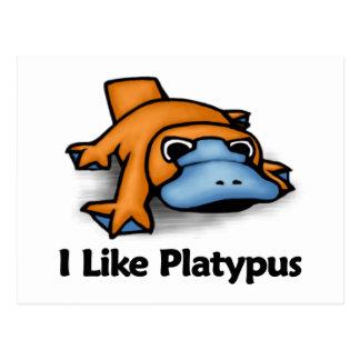 I Like Platypus Postcard