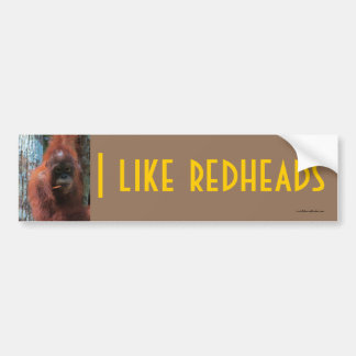 I Like Redheads  - Wildlife Bumper Sticker