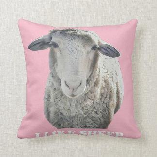 I Like Sheep Funky Throw Pillow