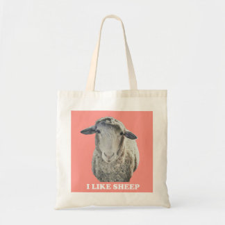 I Like Sheep Funky Tote Bag