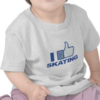I LIKE SKATING facebook LIKE thumb up graphic T-shirt