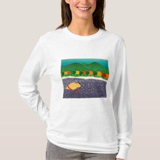 i like sticks-Autumn in Vermont-Stephen Huneck T-Shirt