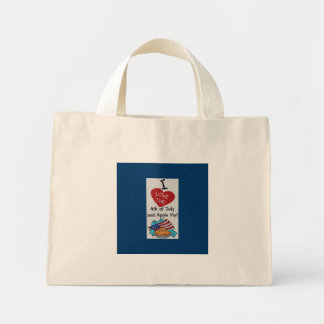 I LIKE THE FOURTH OF JULY AND APPLE PIE MINI TOTE BAG