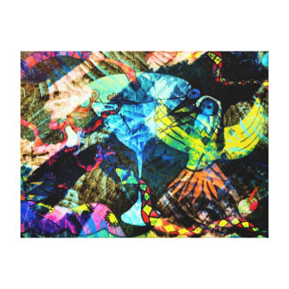 I Like The Nightlife Stretched Canvas Print