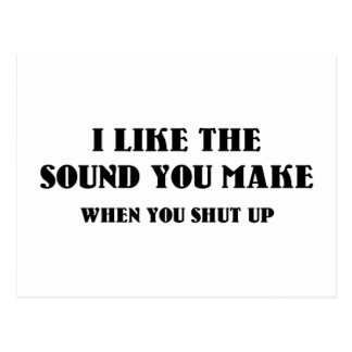 I Like The Sound You Make When You Shut Up Postcard