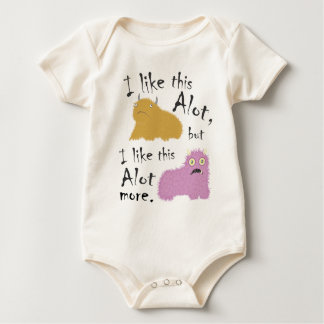 I Like This Alot, But I Like This Alot More Baby Bodysuit
