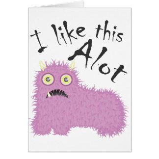 I Like This Alot Greeting Card