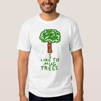 I Like to Hug Trees T-shirts