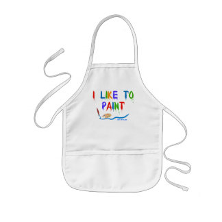 I like to paint - kid's apron