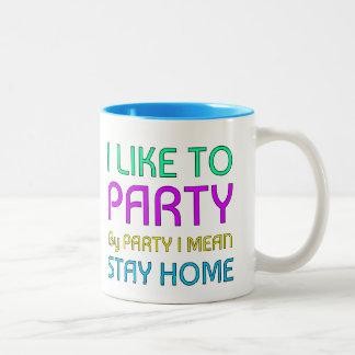 I like to Party Two-Tone Mug