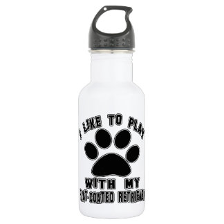 I like to play with my Flat-Coated Retriever. 532 Ml Water Bottle