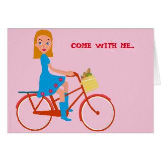 I like to ride my bike card