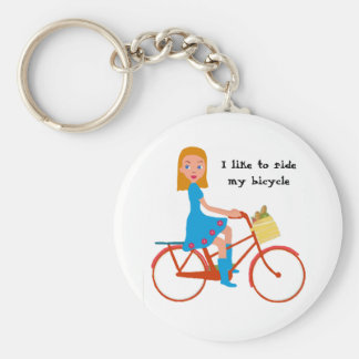 I like to ride my bike key ring