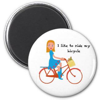 I like to ride my bike magnet