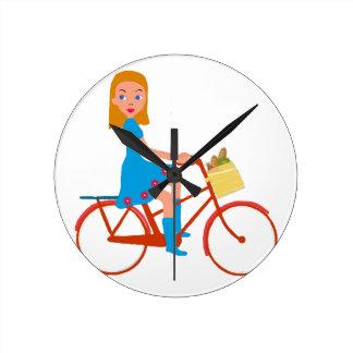I like to ride my bike round clock