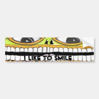 I Like To Smile Bumper Sticker