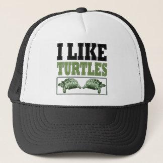 I Like Turtles Big Text Trucker Hat