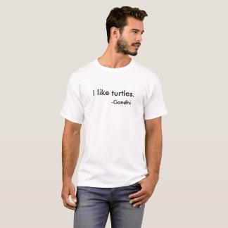 I like turtles. -Gandhi Funny fake quote T-shirt. T-Shirt