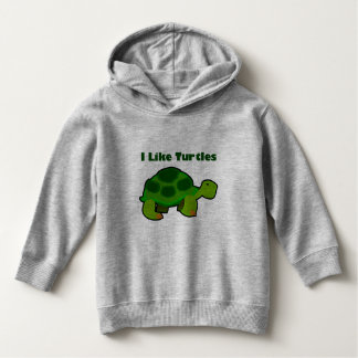 I Like Turtles - Toddler Pullover Hoodie