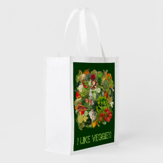 I like Veggies Reusable Grocery Bag