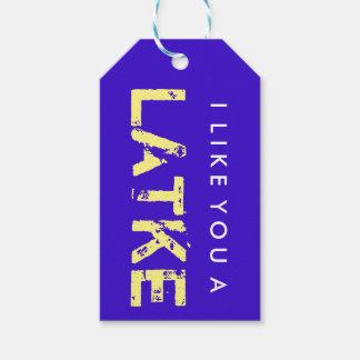 I Like You A Latke Hanukkah Gift Tag