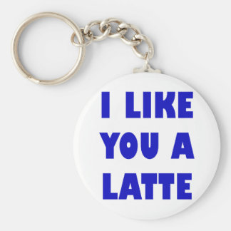 I Like You a Latte Key Ring
