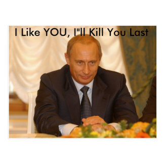 "I Like YOU, I""ll Kill You Last Postcard"