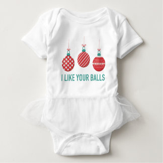 I Like Your Balls Baby Bodysuit