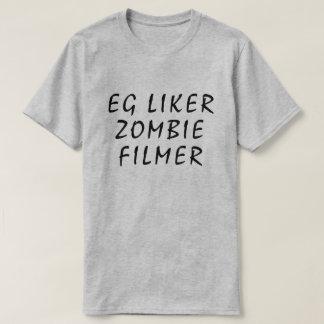 I like zombie movies in Norwegian grey T-Shirt