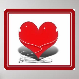 I Listen Red Heart Poster