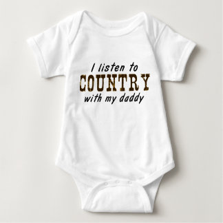 I listen to COUNTRY with my daddy Tee Shirt