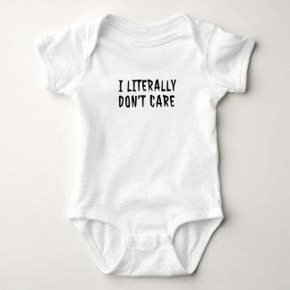 I Literally Don't Care Men Funny Cheap Women Baby Bodysuit