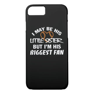 I Little Sister Im His Biggest Fan Shirt iPhone 8/7 Case