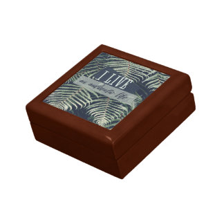 I Live An Authentic Life Small Square Gift Box
