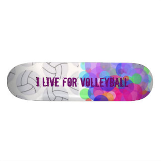 I LIVE FOR VOLLEYBALL 21.3 CM MINI SKATEBOARD DECK