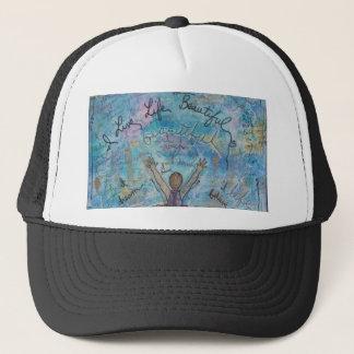 I live life beautiful trucker hat