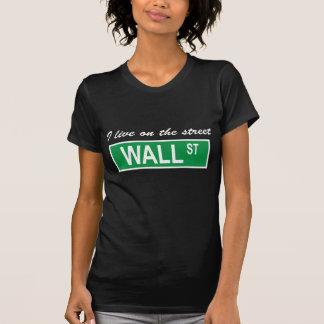 """""""I live on the street Wall St"""" Ladies Dark T-Shirt"""