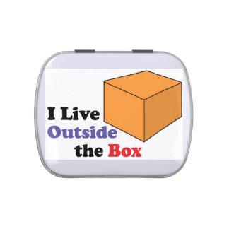 I Live Outside The Box Candy Tins