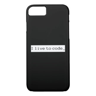 I live to code iPhone 8/7 case