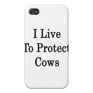 I Live To Protect Cows iPhone 4/4S Covers