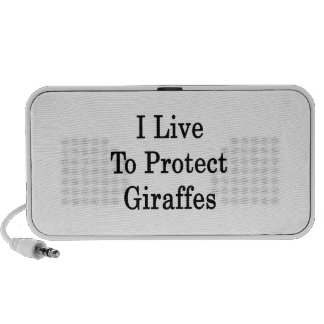 I Live To Protect Giraffes Notebook Speaker