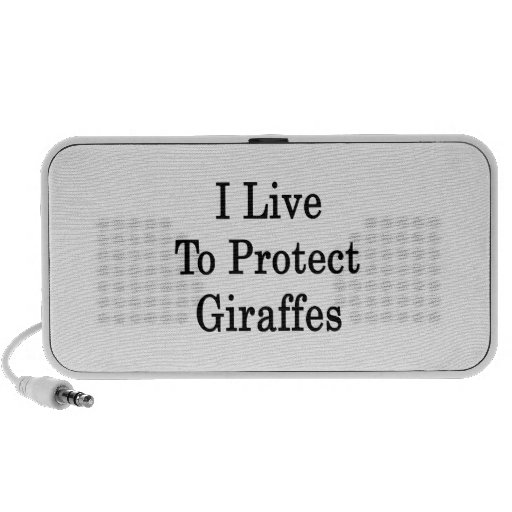 I Live To Protect Giraffes Notebook Speaker