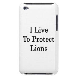 I Live To Protect Lions iPod Case-Mate Cases