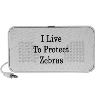 I Live To Protect Zebras Notebook Speakers