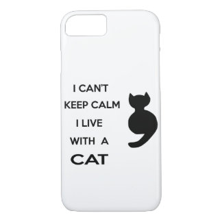 i live with a cat iPhone 8/7 case